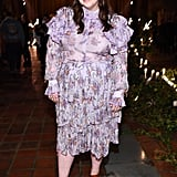 Beanie Feldstein at the Rodarte Fall 2020 Show