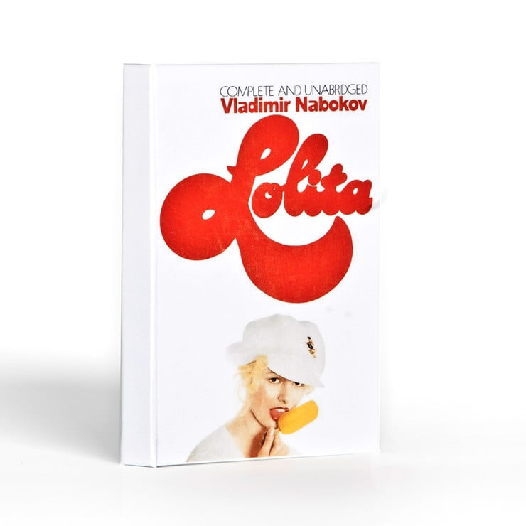 Get the cover of the UK version of the controversial novel Lolita with this iPad case ($50).