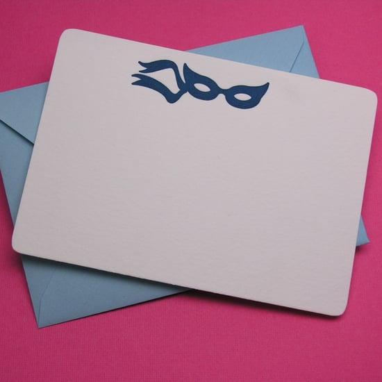 Etsy Find: Masked Set of Four Letterpress Cards