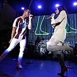 Joe Jonas and Demi Lovato Concert in LA September 2016