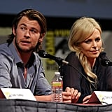 Chris Hemsworth and Charlize Theron took questions from the audience.