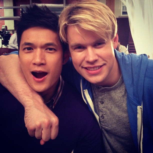 Glee Mates Harry Shum Jr And Chord Overstreet Smiled For The Camera