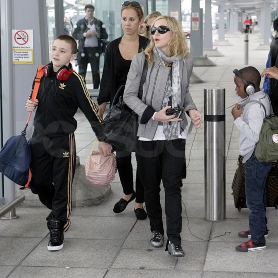 Madonna Pictures Arriving In London On Her Birthday With