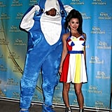 Kelly Ripa and Michael Strahan as Katy Perry and Left Shark