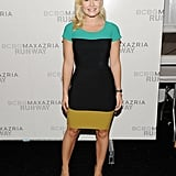 Elisha Cuthbert at fashion week.