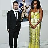 Michelle Obama in a Custom Schiaparelli Haute Couture Gown