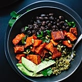 Spicy Sweet Potato and Green Rice Burrito Bowls