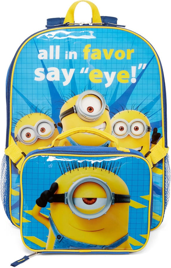 """Minions """"Say Eye"""" Backpack and Lunchbox"""