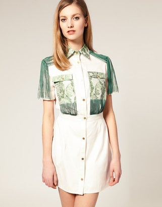 House of Holland Fringe Shirt Dress ($583)