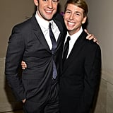 John Krasinski linked up with Jack McBrayer at the cocktail party for the Gotham Independent Film Awards.