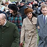 Harry and Meghan's First Christmas Service at Sandringham Together