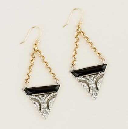 Lulu Frost for J.Crew Crystal and Resin Earrings in Black ($75)