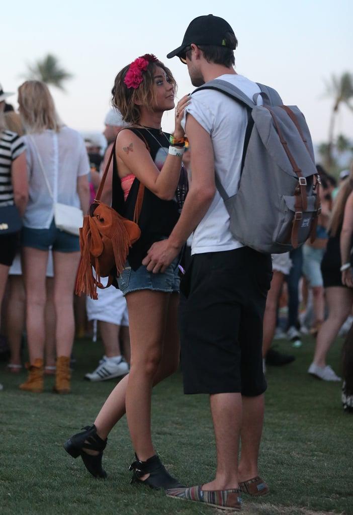 Sarah Hyland shared a sweet moment with her boyfriend, Matt Prokop.