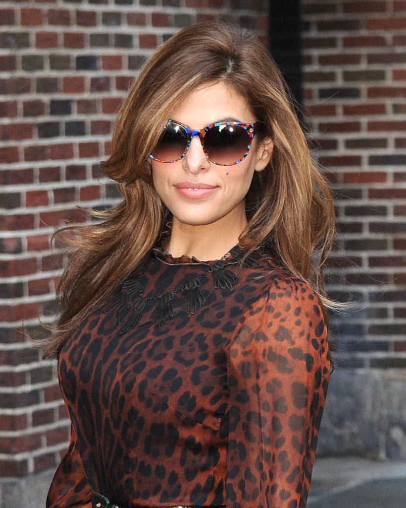 Eva Mendes stepped out for a Late Night With David Letterman appearance in NYC.