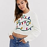 ASOS Design Christmas Lights Jumper