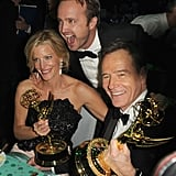 Anna Gunn, Aaron Paul and Bryan Cranston attended the 2013 Emmys Governors Ball.