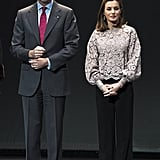 Letizia in Zara, February 2018