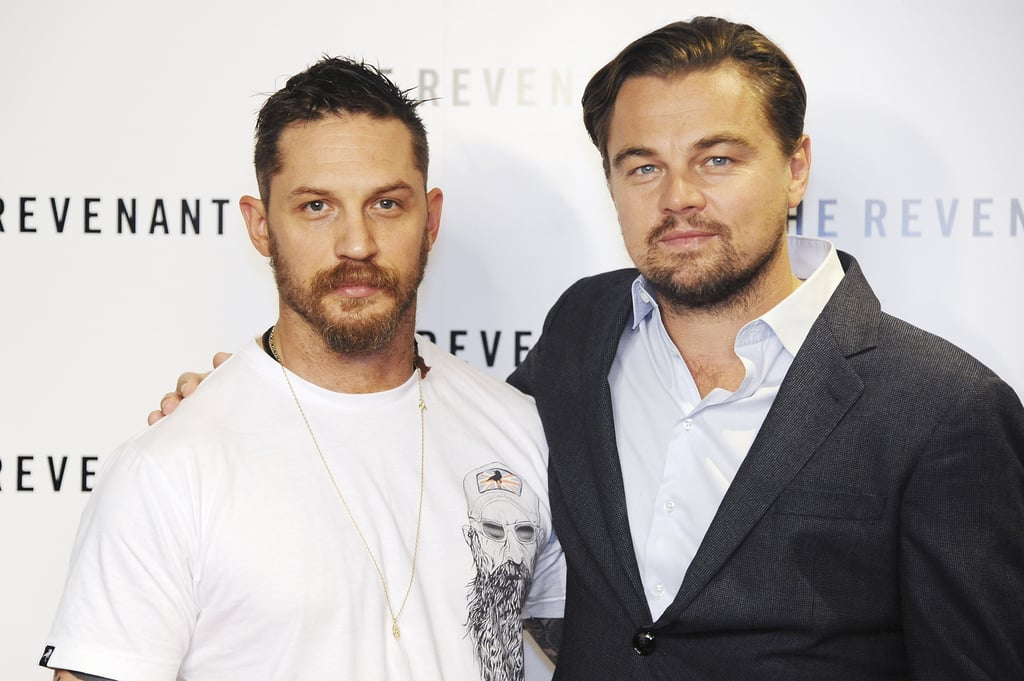 All eyes were on Leonardo DiCaprio and Tom Hardy at the BAFTA screening of their new film, The Revenant, in London on Sunday. Leo looked dapper in a grey suit, while Tom kept things casual in a white t-shirt and jeans. In the movie, which is set to open on 15 Jan., Leo stars as Hugh Glass, a fur trapper who is mauled by a bear, and Tom plays John Fitzgerald, Leo's companion. Leo, who recently turned 41 years old, was honoured with the actors inspiration award for his philanthropic work at the Screen Actors Guild Foundation 30th anniversary celebration in LA just last month. Read on to see more of Leo and Tom, and then check out what actually happens to Leo in that famous bear scene.