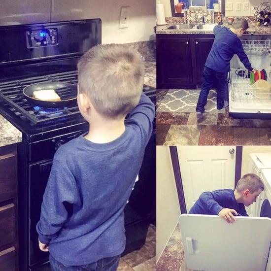 Nikkole Paulun Teaches Her Son to Do Household Chores