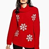 Topshop Christmas Glitter Snowflake Jumper