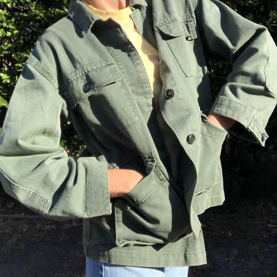 Zara Vintage Army-Green Utility Coat