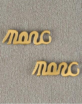 Script Stud Earrings $38 Neiman Marcus