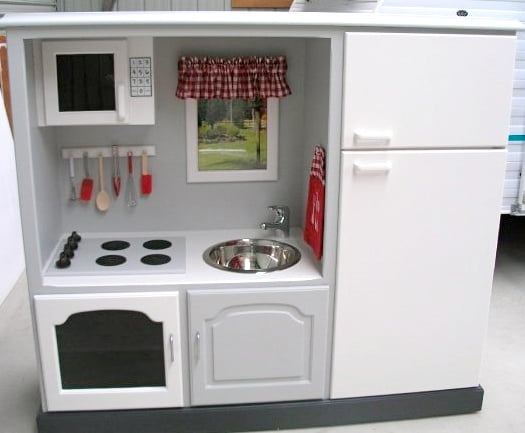 The After: A One-of-a-Kind White Play Kitchen