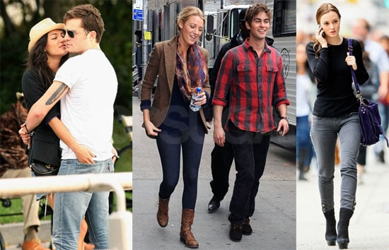 Photos of Blake Lively, Leighton Meester, Kelly Rutherford, Chace Crawford, And Ed Westwick Filming Gossip Girl