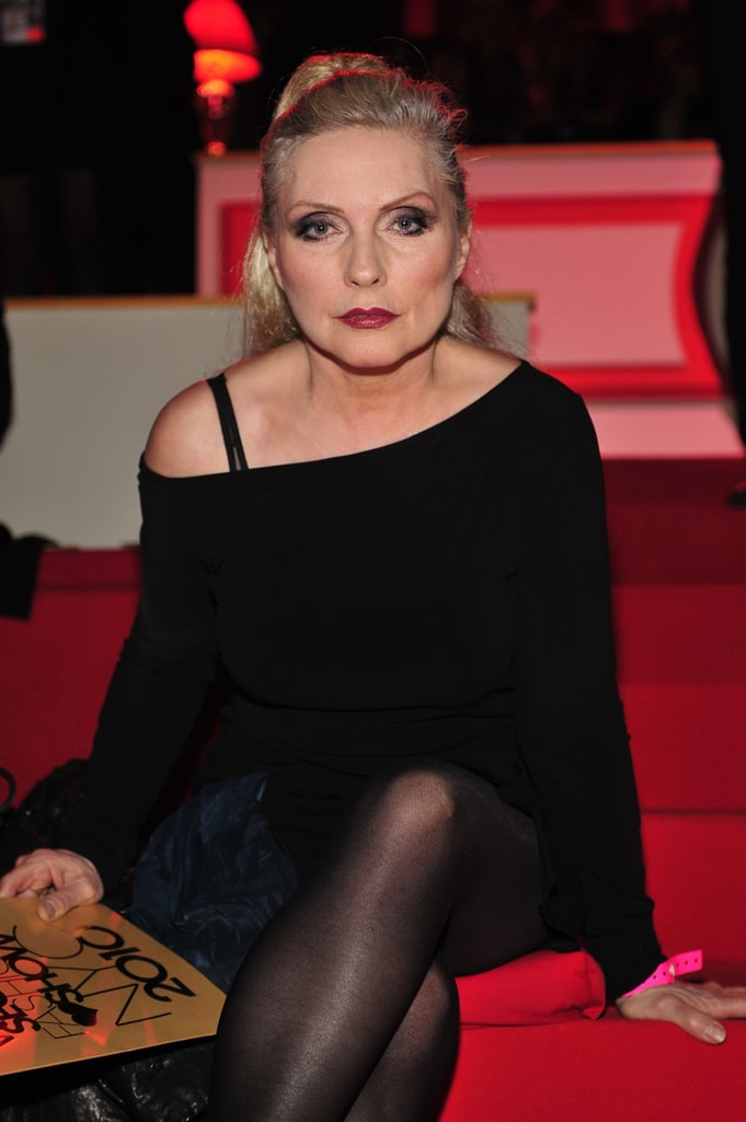 Blondie's Debbie Harry wore all black at the 2010 show.