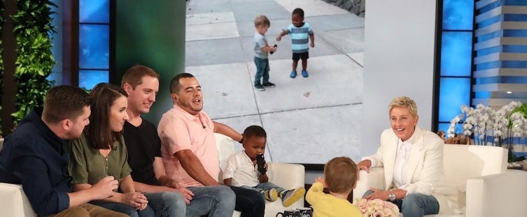 Ellen DeGeneres Met Those Viral Hugging Toddlers