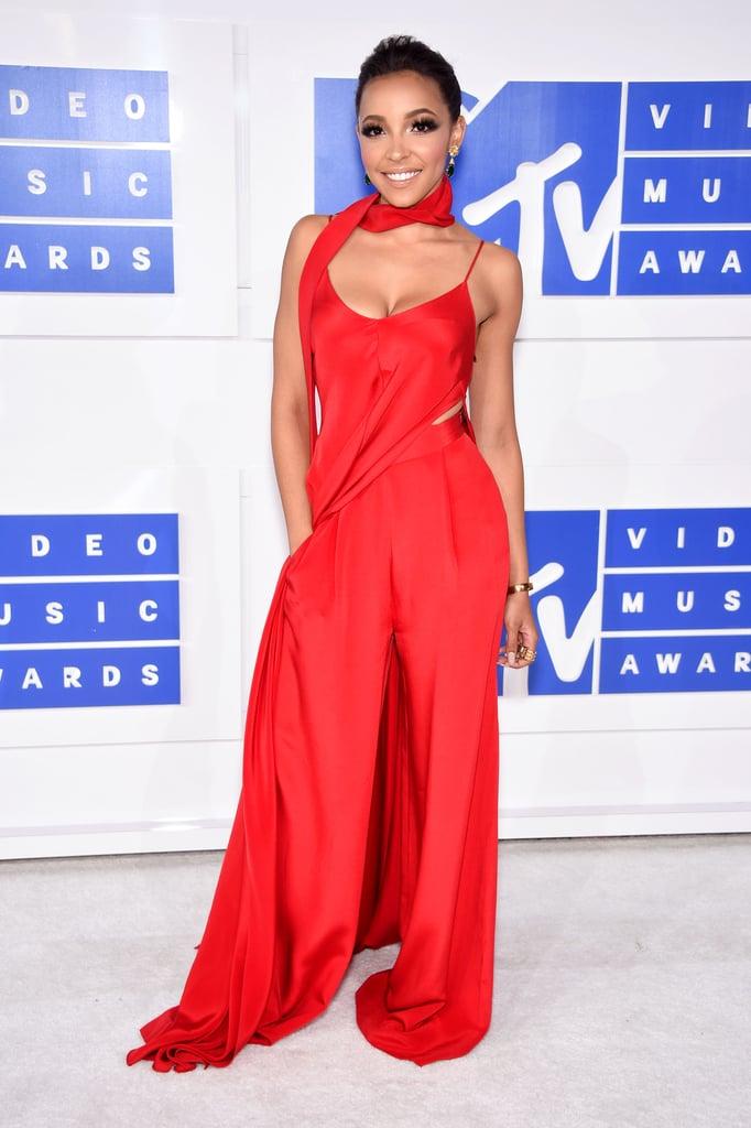 Tinashe Red Jumpsuit at the VMAs 2016