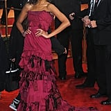 Zoe wore a ruffled Louis Vuitton dress to the 2010 Golden Globes — did you love it or hate it?