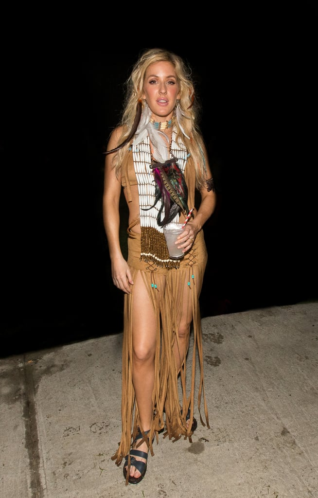 Ellie Goulding grabbed headlines as a Native American in Puerto Rico in 2014.