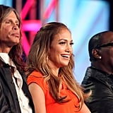 Steven Tyler, J Lo, and Randy Jackson promote American Idol.