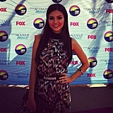 Victoria Justice posed on the carpet. Source: Instagram user teenchoicegirl