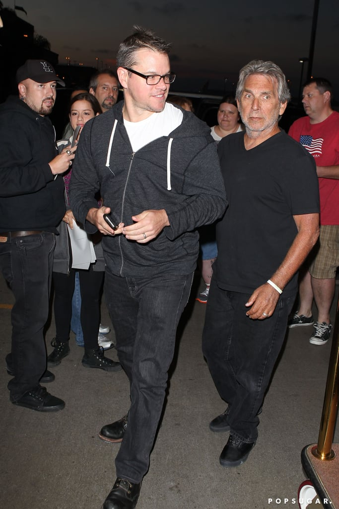 Matt Damon was surrounded by fans at LAX.