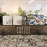 Rustic Coffee Farmhouse Kitchen Counter Coffee Box
