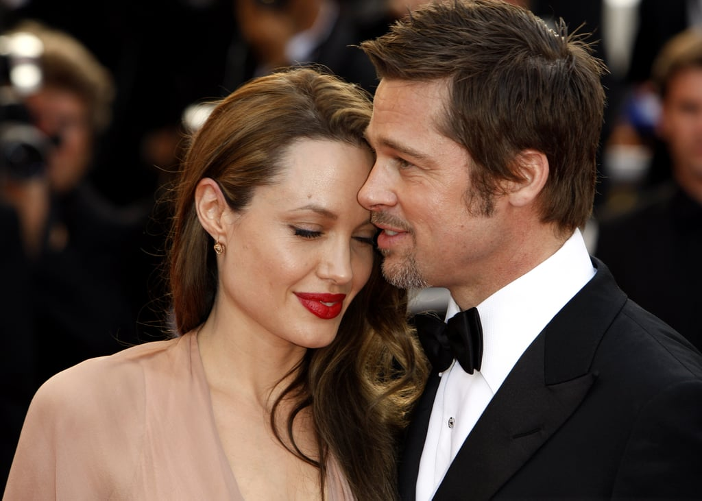 Angelina Jolie cosied close to Brad Pitt at the 2009 Cannes Film Festival.