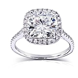 Ice Julie Leah Diamond Halo Square Ring