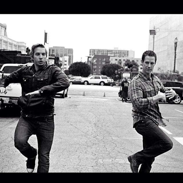 Hansen and Dohring practice their dance moves. Source: Instagram user mrchrislowell