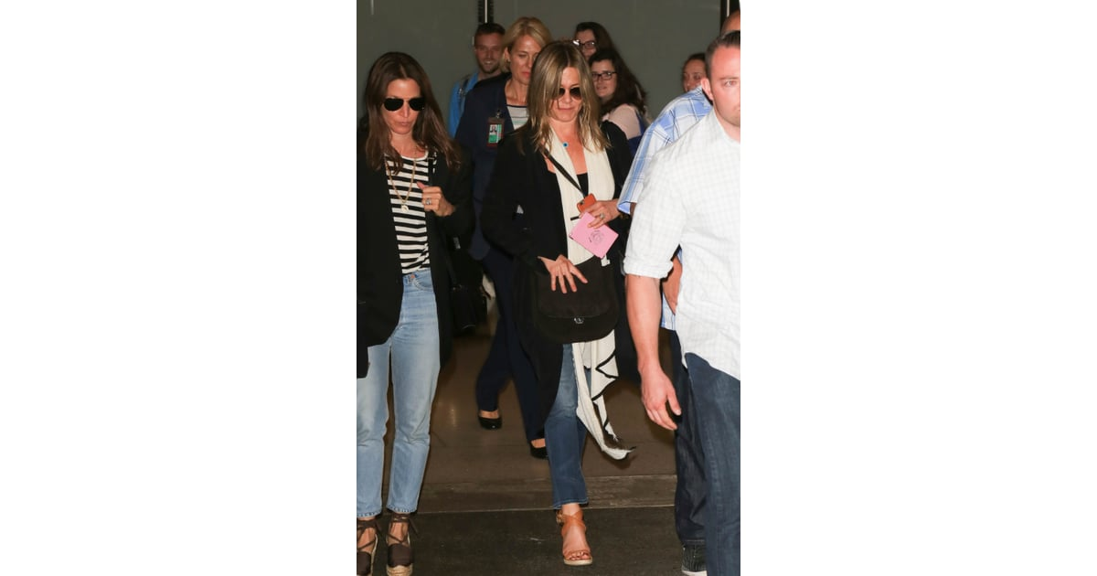 Jennifer Aniston Travel Style July 2016 Popsugar Fashion Photo 8