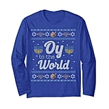 "Funny Hanukkah Sweater ""Oy to the World"""