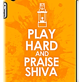 Play Hard and Praise Shiva iPad Case ($64)