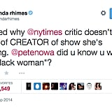 Shonda Rhimes Was Not Pleased With One New York Times Critic's Review