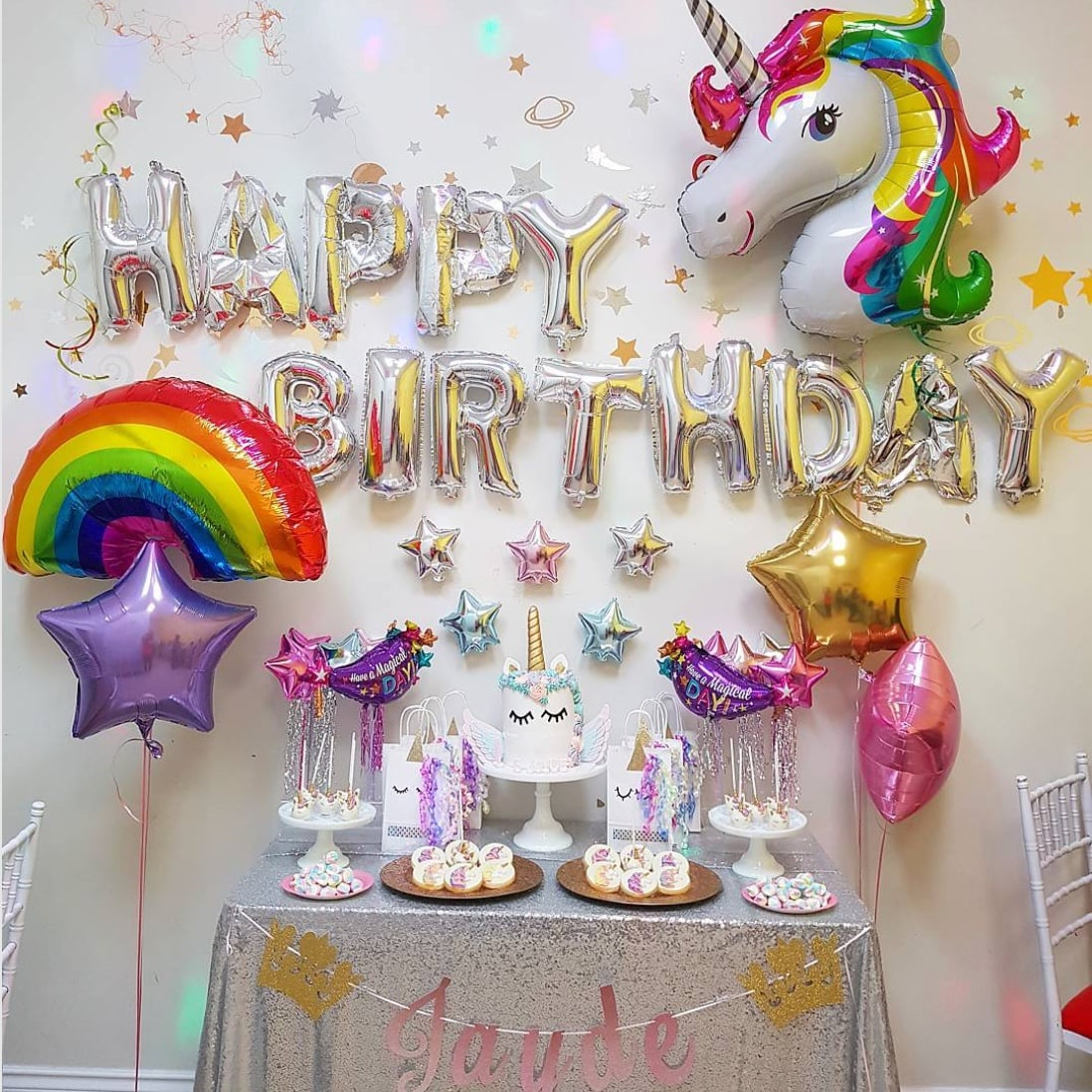 rainbow first birthday party ideas popsugar moms