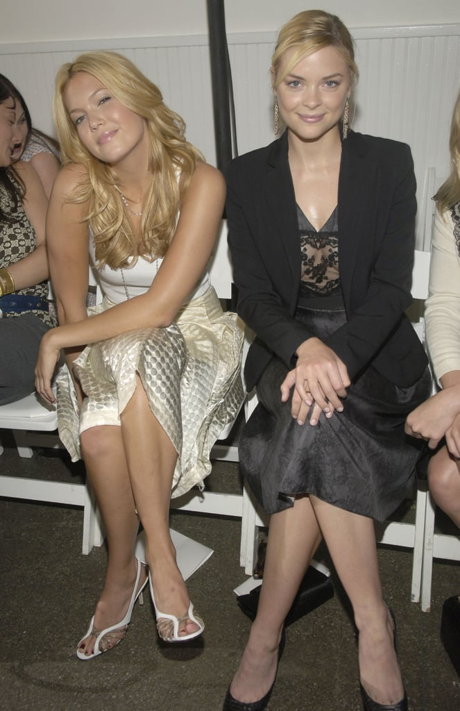 Mandy Moore and Jaime King had a blonde moment at Behnaz Sarafpour in NYC in September 2005.