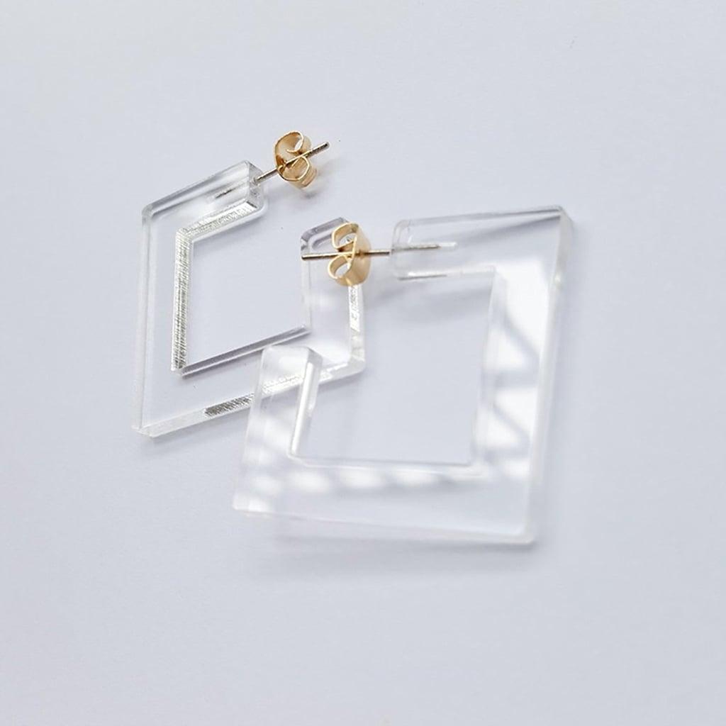 Transparent Acrylic Earrings