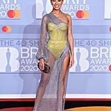 Montana Brown at the 2020 BRIT Awards Red Carpet