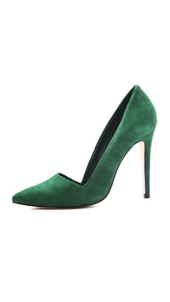 The sexier d'Orsay-inspired cut of this Alice + Olivia Dina suede pump ($295) only gets sexier when you take the sultry green hue into consideration. Pair it with trousers for a cool wardrobe fit in the workplace and after hours.