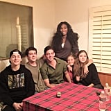 """Serena Williams was all smiles with her """"second family."""""""